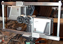 Twin video camera 3-D setup