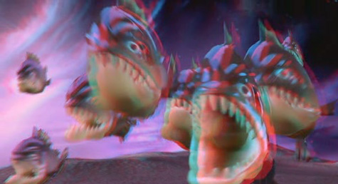 The adventures of Sharkboy & Lavagirl 3-D - piranhas shot